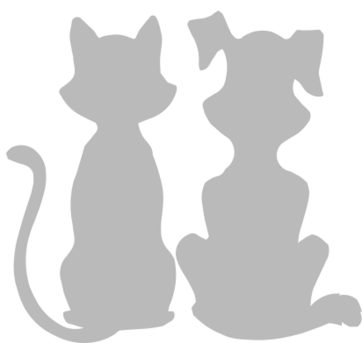 """Набор термоаппликация светоотражающих """"Кот и пес"""""""